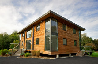 energy efficient windows in an eco-house