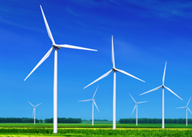 Wind energy uses no ongoing resources except wind. No constant ...