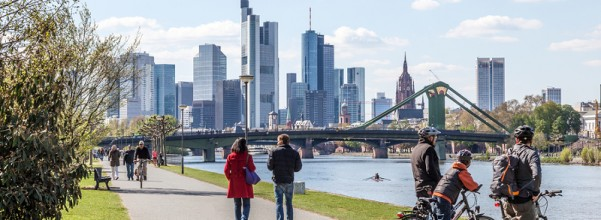 Frankfurt, Germany, has a strong sustainability score on both environmental and economic factors. Furthermore, the city plans to reduce its CO2 emissions by 10% every five years.